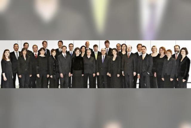 Mit dem Kammerchor cappella vocale würzburg in Hinterzarten