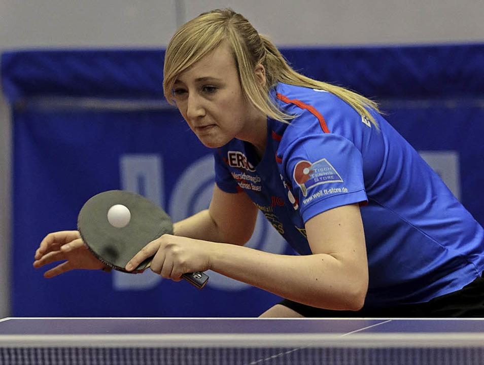 <BZ-FotoAnlauf>Tischtennis:</BZ-FotoAn...es waren die einzigen gegen  Weinheim.  | Foto: Uwe Rogowski