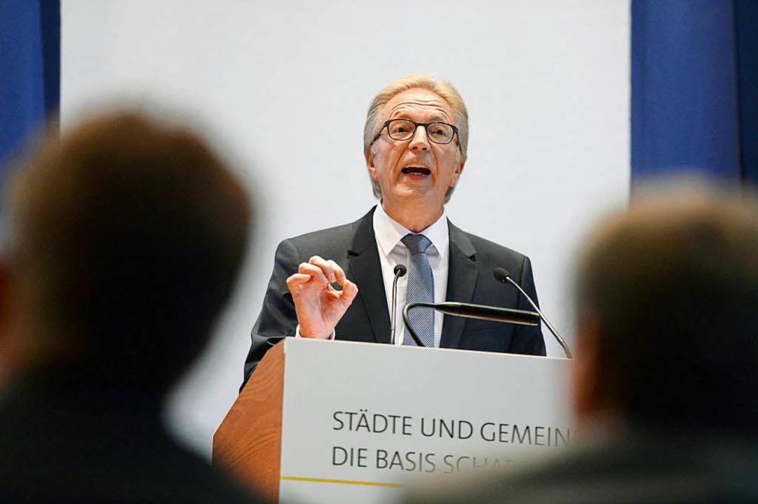 Der Präsident des Gemeindetags Baden-W...ingen, Baden-Württemberg (Symbolbild).  | Foto: dpa