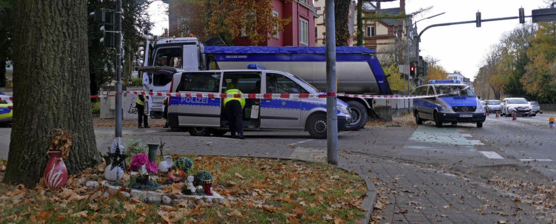 Der Unfallort war aus Gründen der Ermi...n von Kraft- und Radverkehr getrennt.   | Foto: Burgmaier