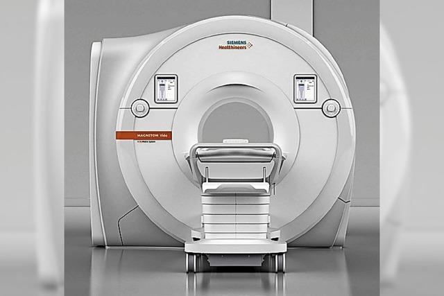 Wenn millionenschwere Medizintechnik mit dem Auslegerkran kommt