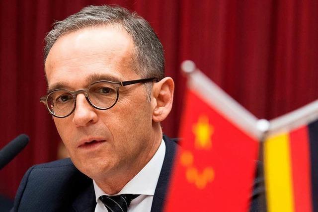 Außenminister Maas richtet deutliche Worte an Peking