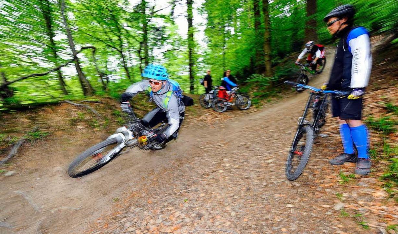 Der stadtnahe Borderline-Trail ist bei Mountainbikern in der Region beliebt.    Foto: INGO SCHNEIDER