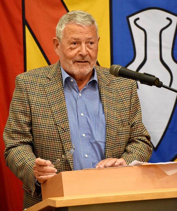 Reiner Uehlin trug 43 Jahre als Gemeinderat für Denzlingen Verantwortung  | Foto: Markus Zimmermann