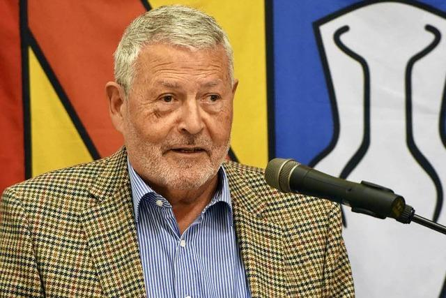 Reiner Uehlin war 43 Jahre im Denzlinger Gemeinderat – und nimmt jetzt Abschied