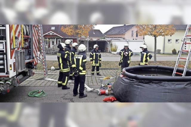 Übungstag der Feuerwehr Rheinhausen