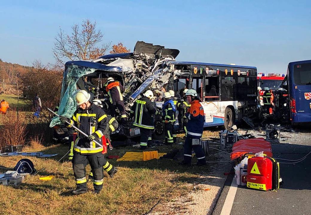 Die Unfallstelle bei Ammerndorf  | Foto: dpa