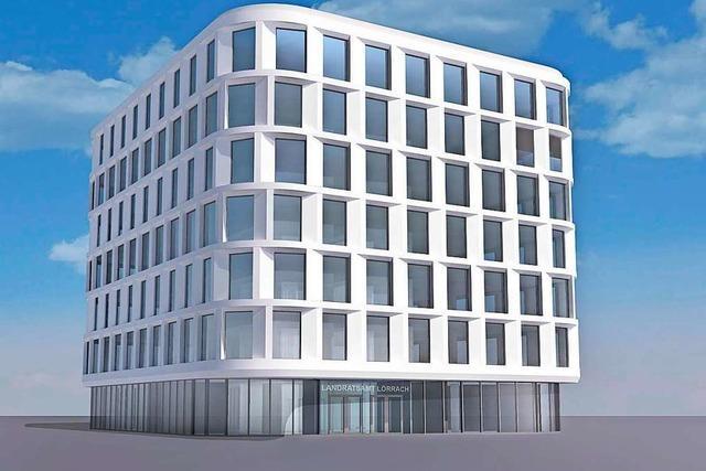 Der Neubau des Lörracher Landratsamts wird neun Millionen Euro teurer