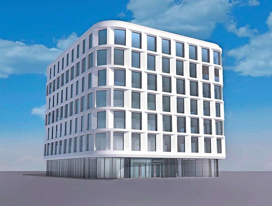 So soll der zweite Standort des Landratsamtes bei der Arbeitsagentur aussehen.    Foto: K 9 Architekten