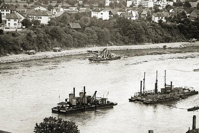 Als der Rhein ausgebaggert wurde