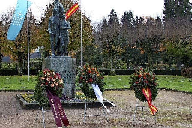 Gedenken an die Opfer von Krieg und Gewaltherrschaft