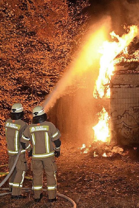 Feuerwehrleute im Einsatz   | Foto: dpa
