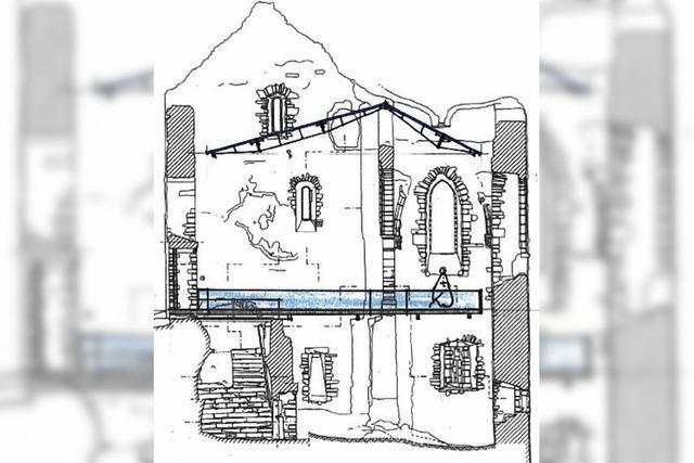 Was passiert mit der Kapelle in der Burgruine Landeck?