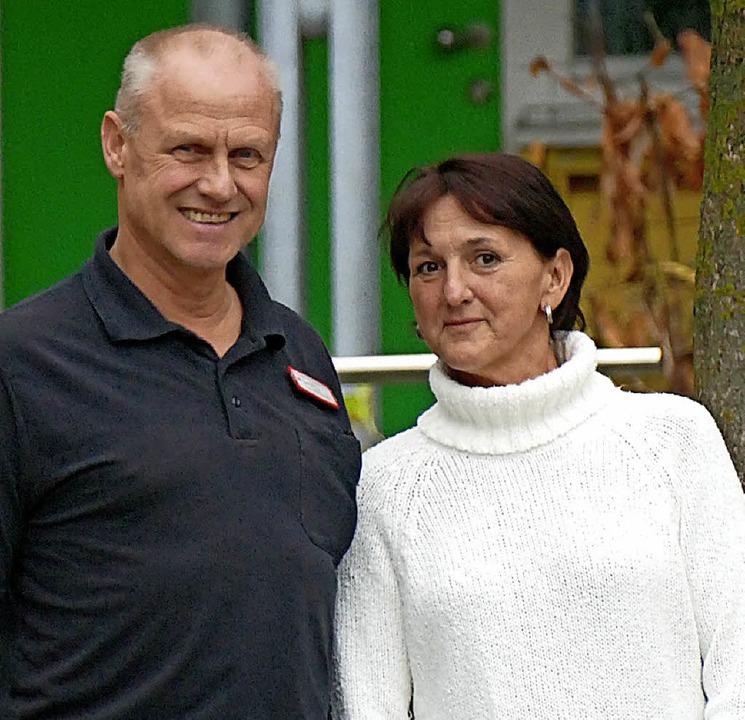 Uwe Zimmer und Ulrike Brauer vom Caritasverband  | Foto: Marius Alexander