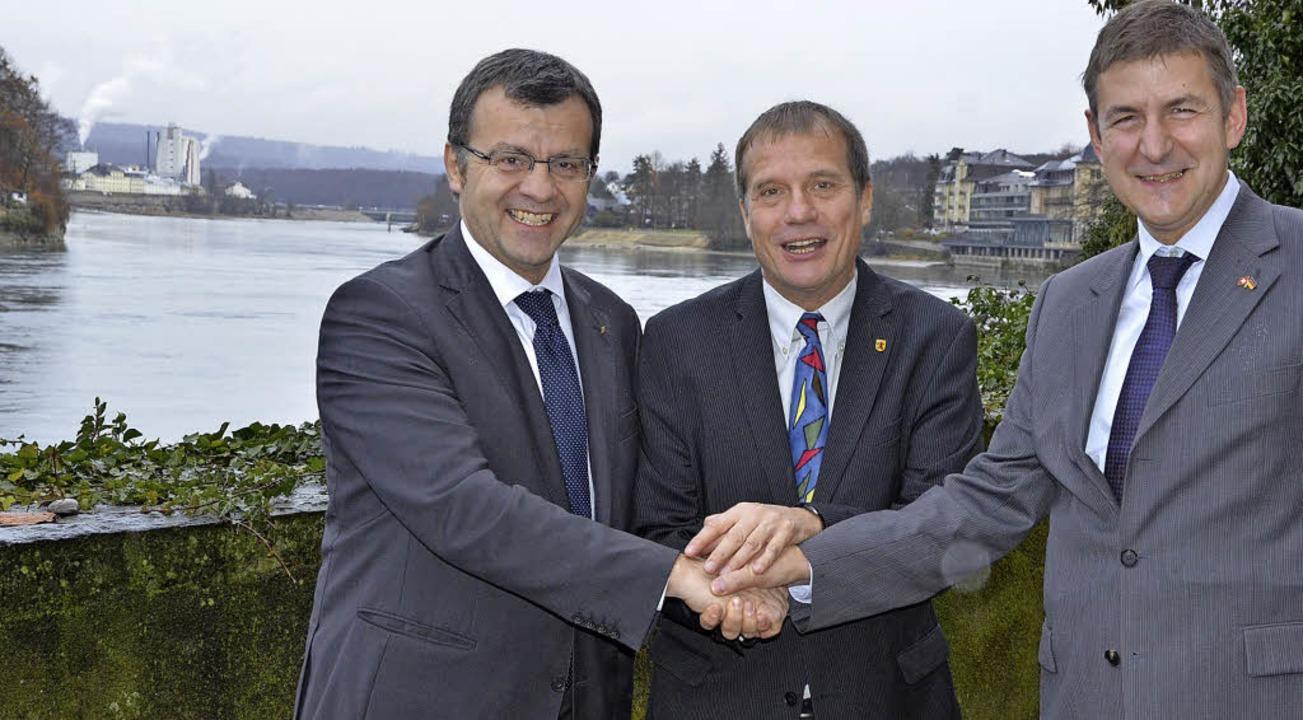 Ein Bild aus hoffnungsvollen Tagen: Di... Klaus Eberhardt und Oliver Tschudin.     Foto: Archiv: Peter Gerigk
