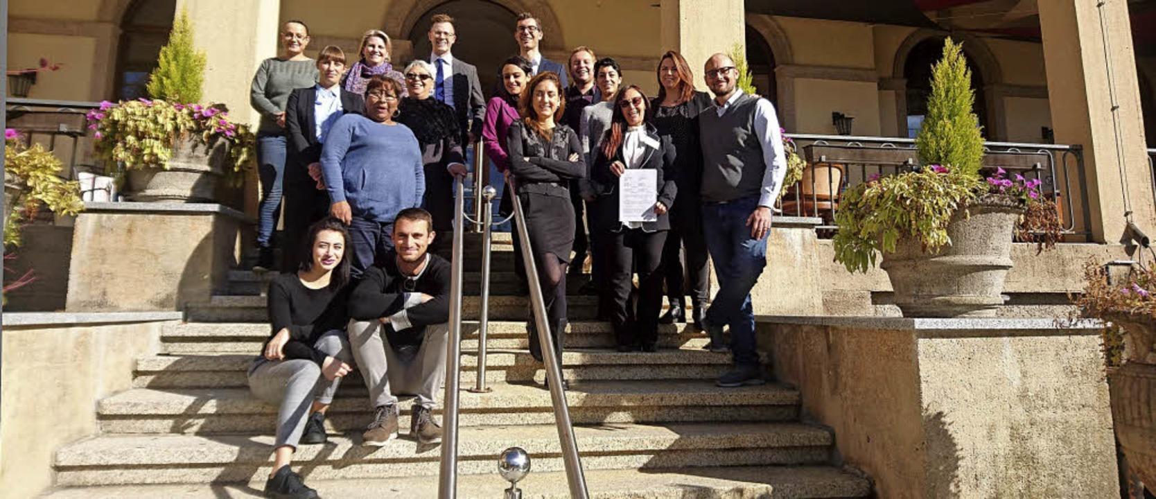 Neun Fachkräfte aus Italien  wollen in...n Deutschkurs erfolgreich abschließen.  | Foto: Linguedo