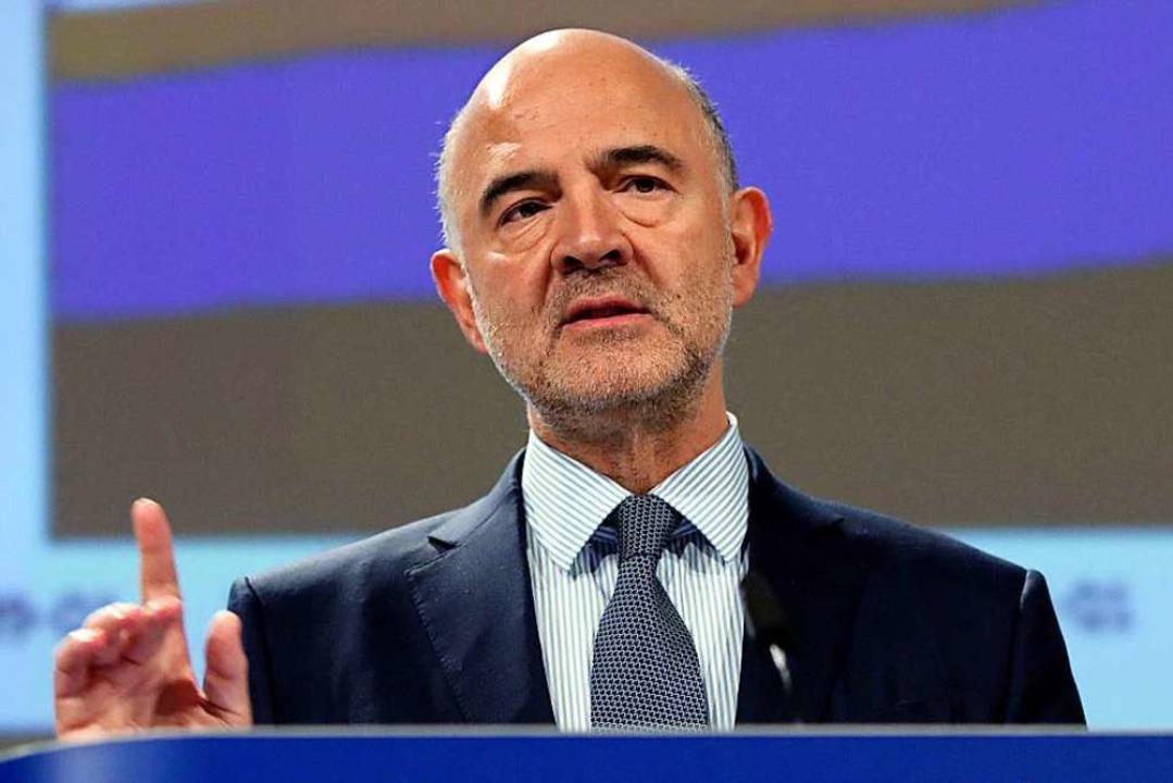 Pierre Moscovici, EU-Kommisar für Wirtschafts- und Finanzangelegenheiten   | Foto: DPA