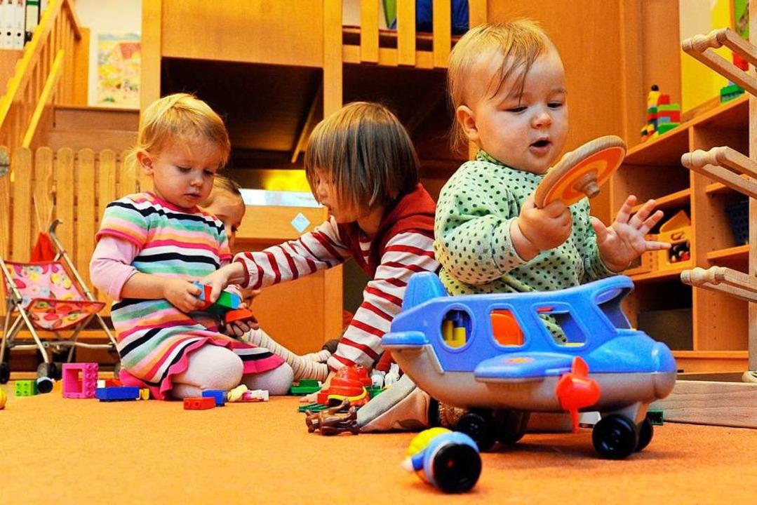 Für Kinder in Merzhausen gibt es einig...cht alle Elternwünsche werden erfüllt.    Foto: Uli Deck
