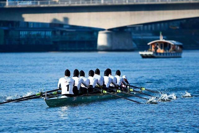 Deutschland-Achter gewinnt Rennen auf dem Rhein in Basel