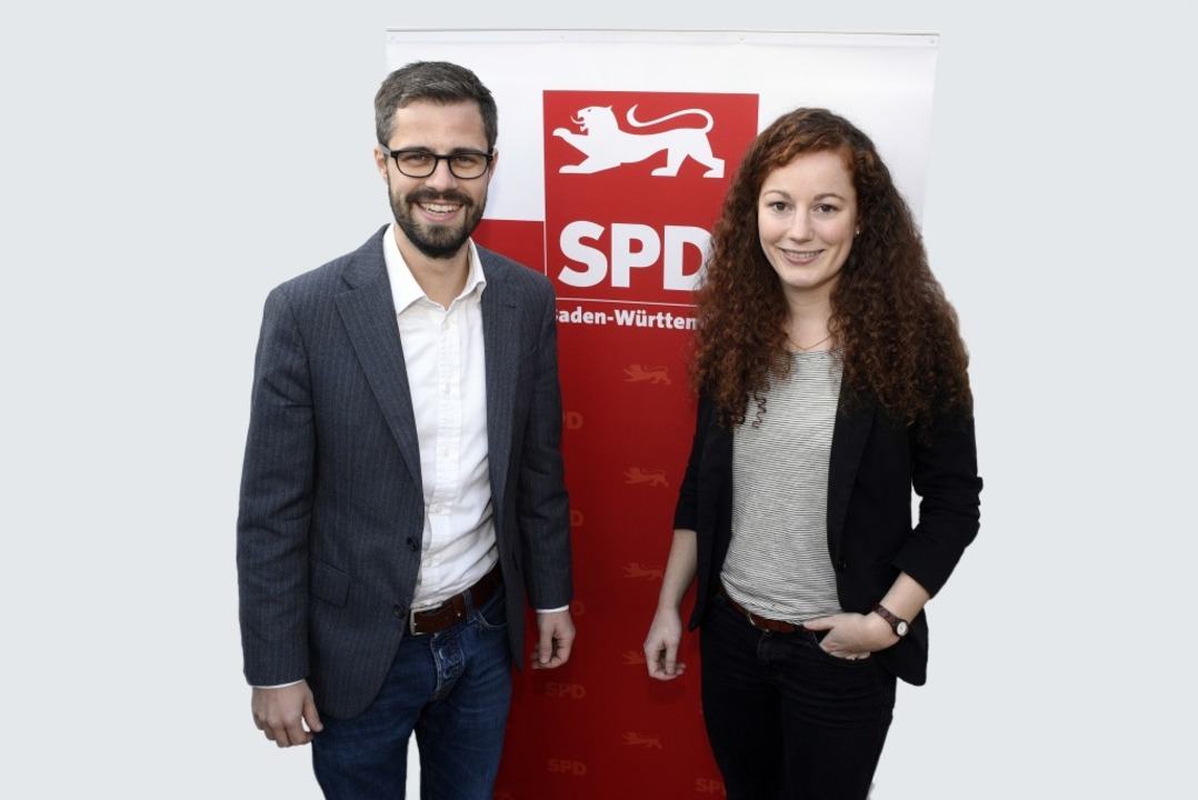 Die beiden Spitzenkandidaten der SPD f...alwahl: Julian Bender  und Julia Söhne  | Foto: Thomas Kunz