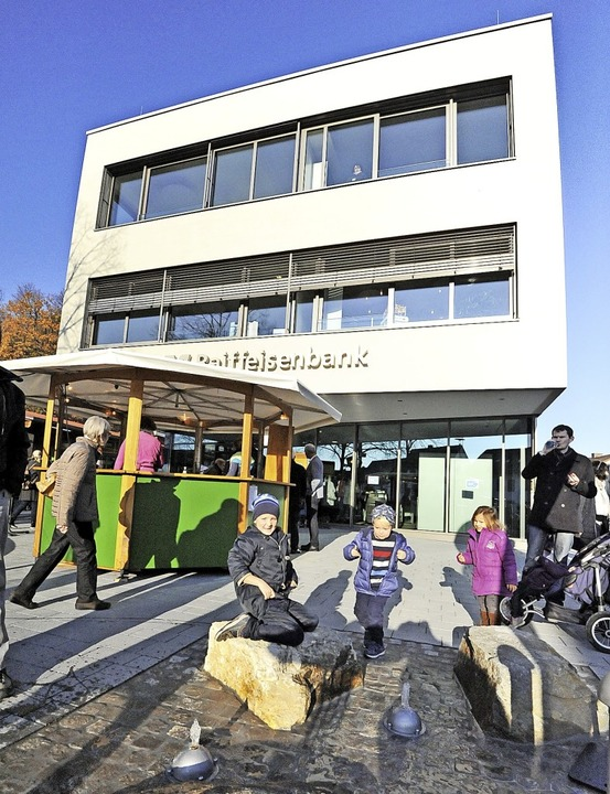 Vor dem neuen Gebäude befindet sich ei...er vor allem bei Kindern beliebt ist.   | Foto: Markus Zimmermann