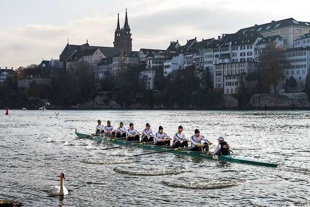Der Deutschland-Achter ist auch beim neunten Rennen in Basel nicht zu schlagen