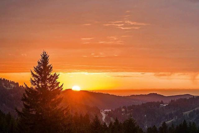Sonnenaufgang auf dem Stübenwasen