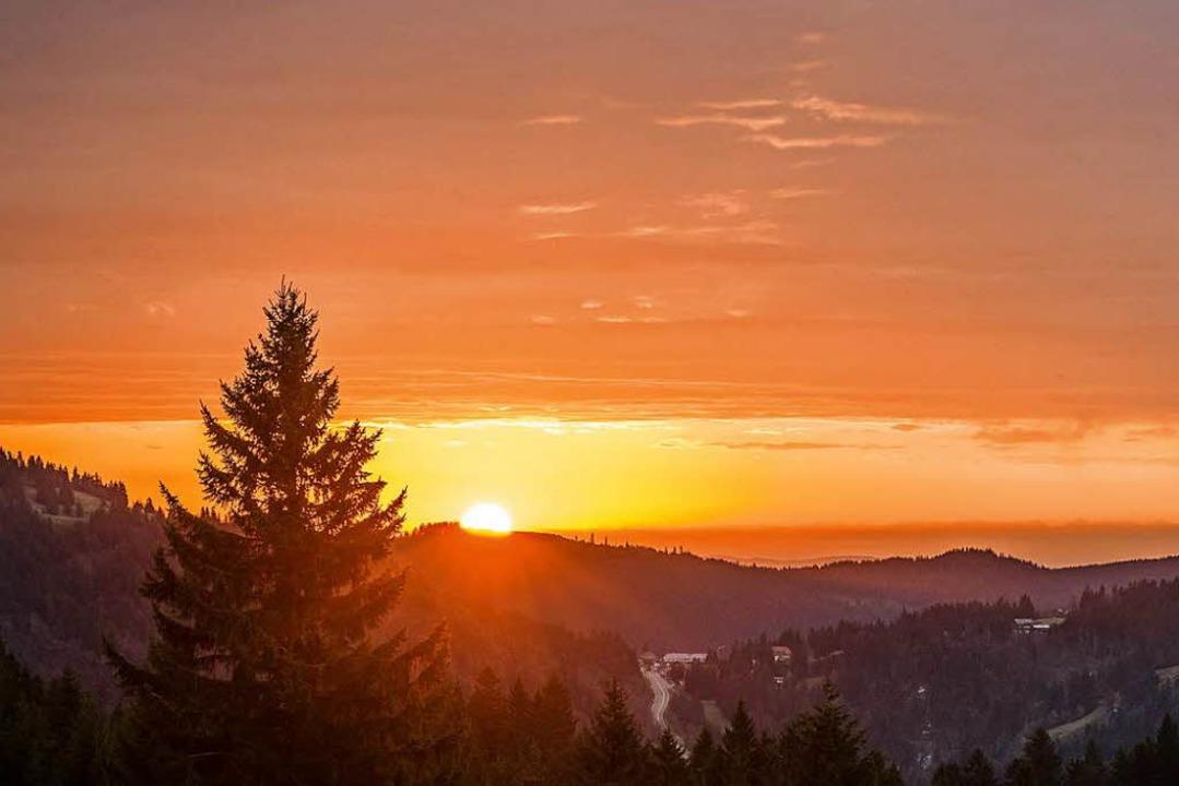 Sonnenaufgang auf dem Stübenwasen.    Foto: Paul Loesche