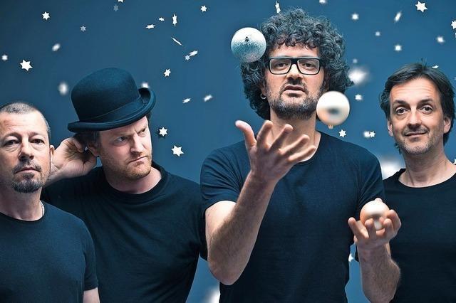 Quartett Dub Spencer & Trance Hill am 23. November im Café Verkehrt in Murg-Oberhof. Prsychedelischer Dub-Reggae mit Rock- und Trance-Einflüssen.