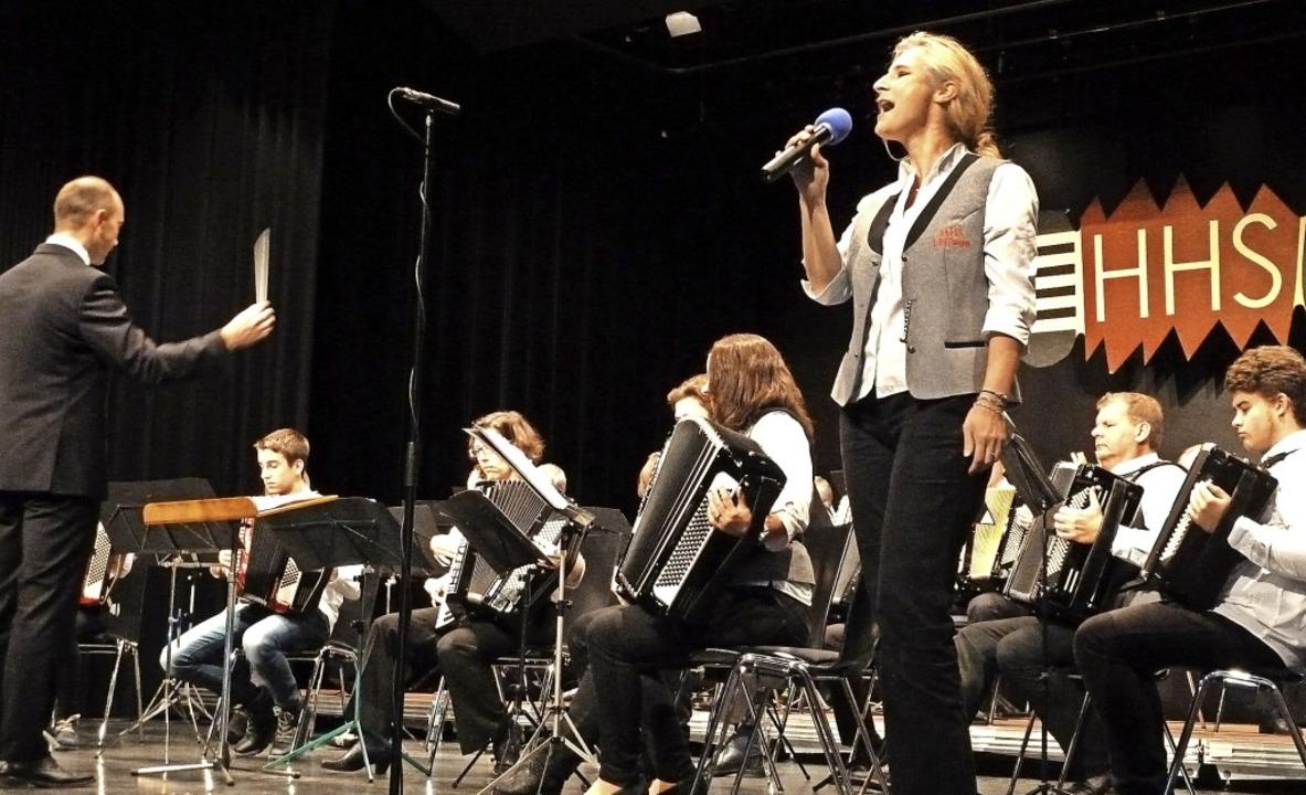 Diana Frey beeindruckte beim Konzertab...e mit einem klanggewaltigen Auftritt.   | Foto: Heidrun Simoneit