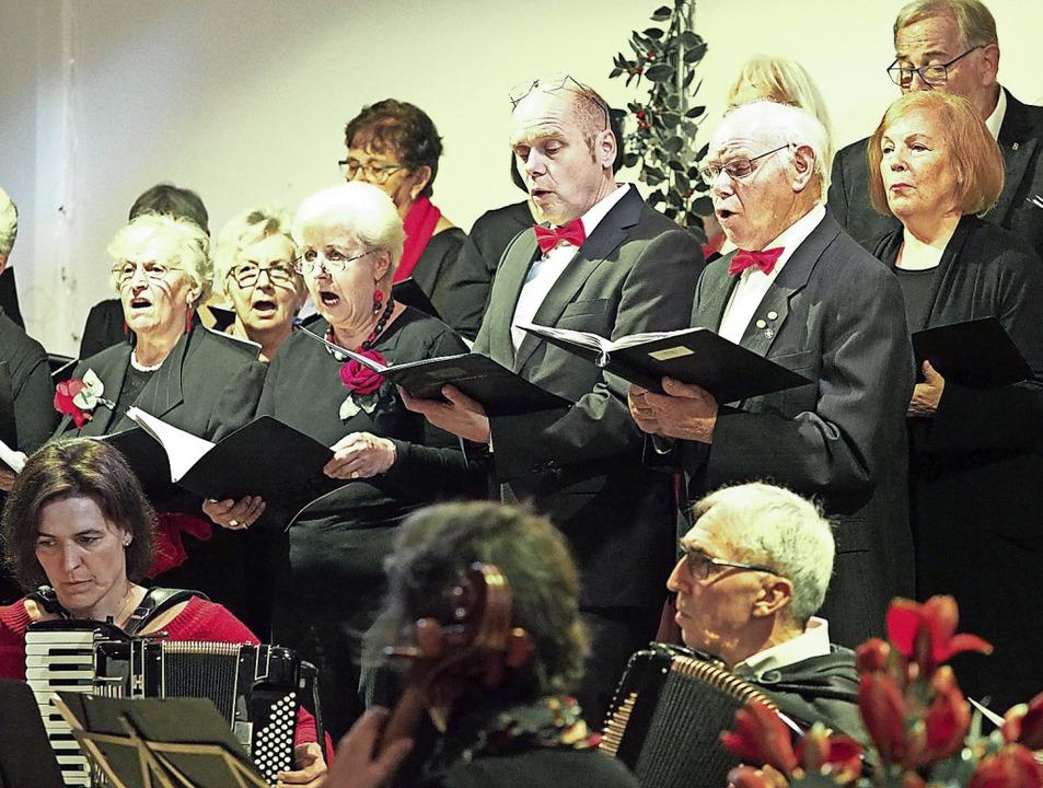 Der Gemischte Chor Sulzburg in Aktion  | Foto: Jutta Geiger