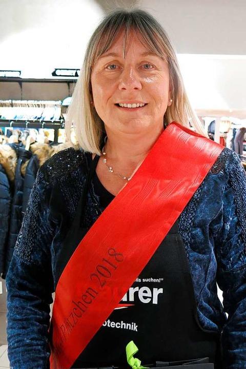 Sigrid Pumple aus Köndringen gewann den Backwettbewerb.  | Foto: Georg Voß