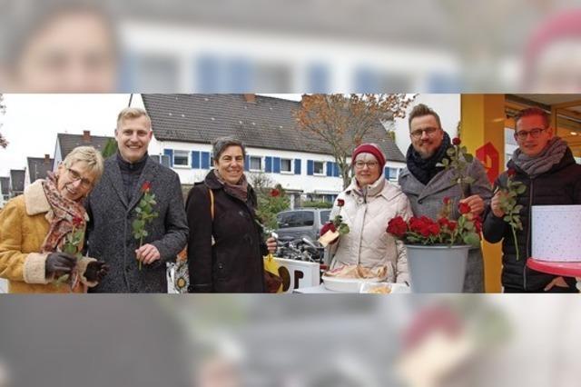Drei Männer initiieren SPD-Stand zu