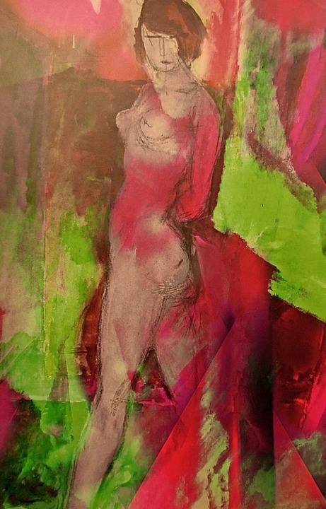 Die Bilder der Schopfheimer Künstlerin...biose von Malerei und digitaler Kunst.