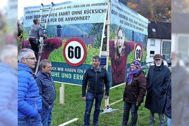 Protest gegen Verkehrslärm in Oberried