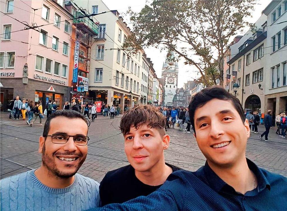 Das Gründerteam von imachs: Rachid Mah...Lammert und Amine Cherrered (v.l.n.r.)  | Foto: imachs
