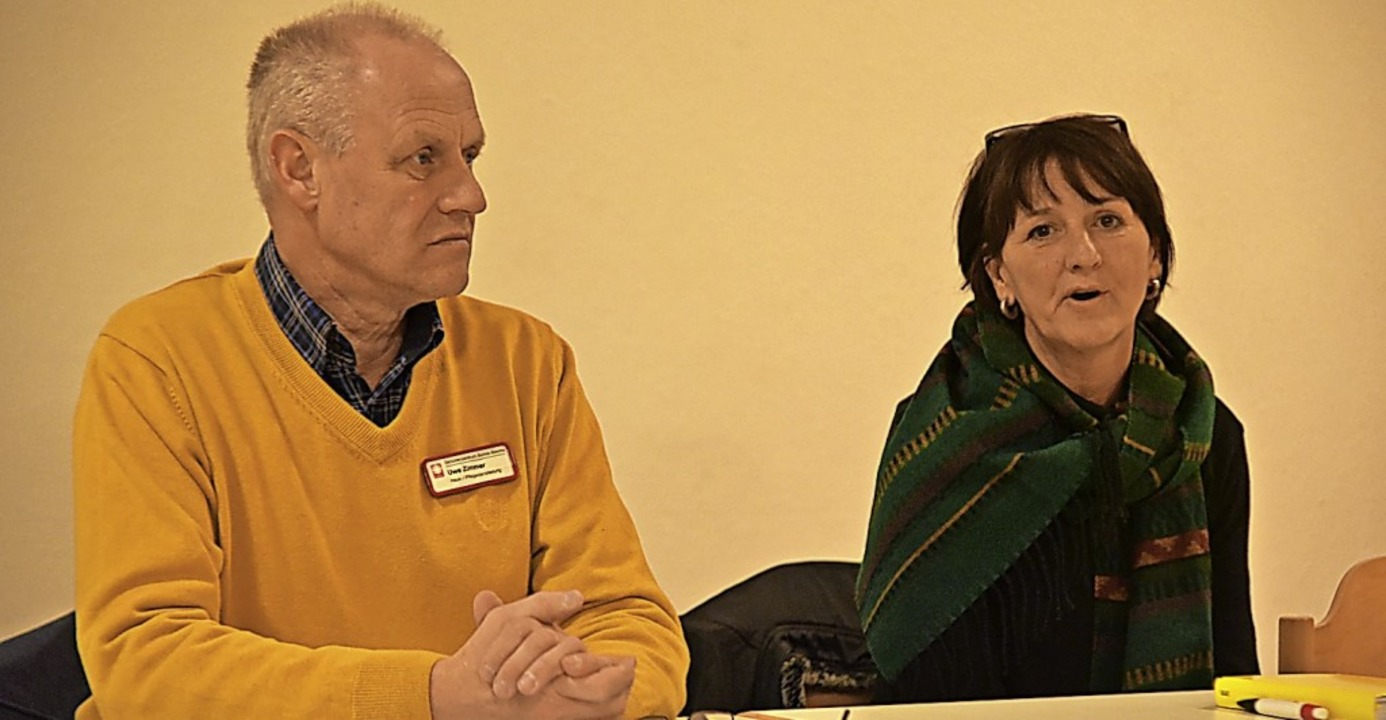 Uwe Zimmer und Ulrike Brauer von der C...die neue Nachbarschaftshilfe Teningen.  | Foto: Benedikt Sommer
