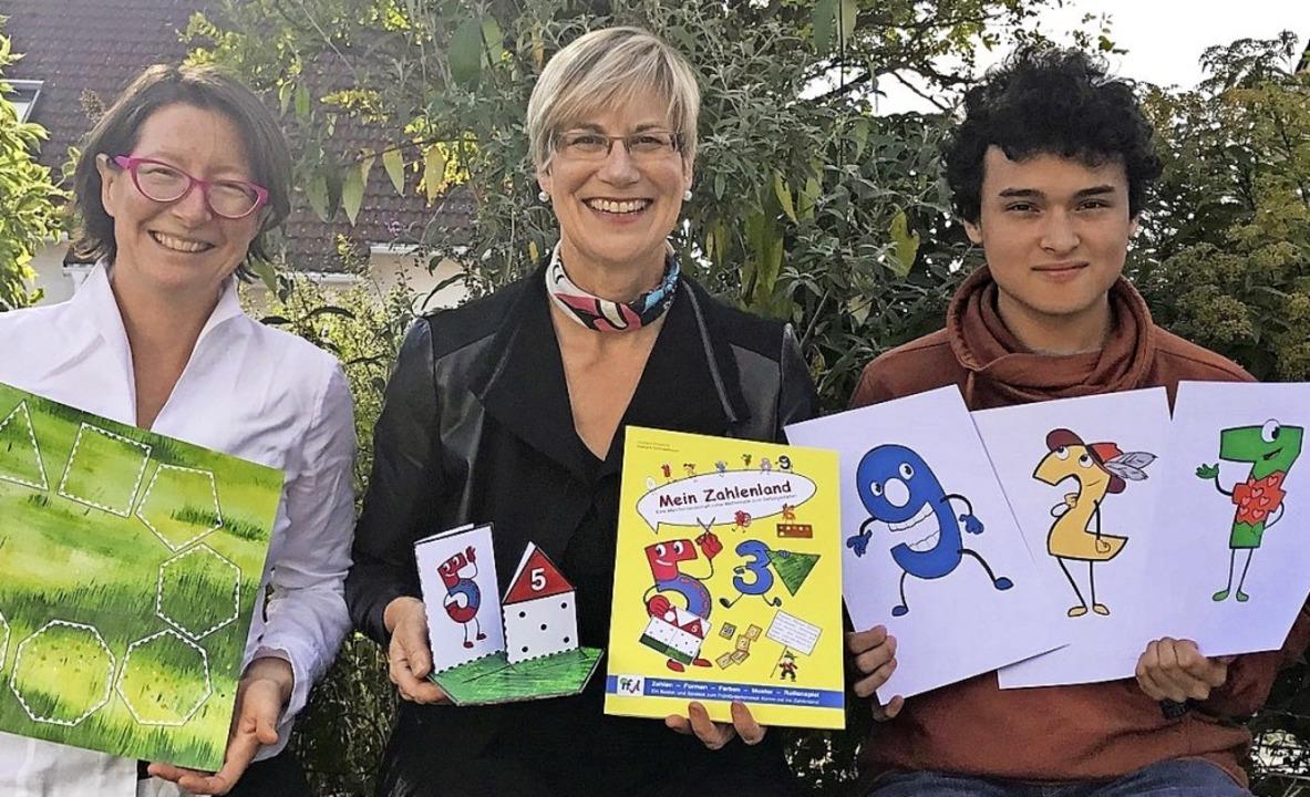 Elisabeth Richaud, Barbara Schindelhau...edo Serrano mit dem Zahlenland-Spiel.     Foto: ZVG