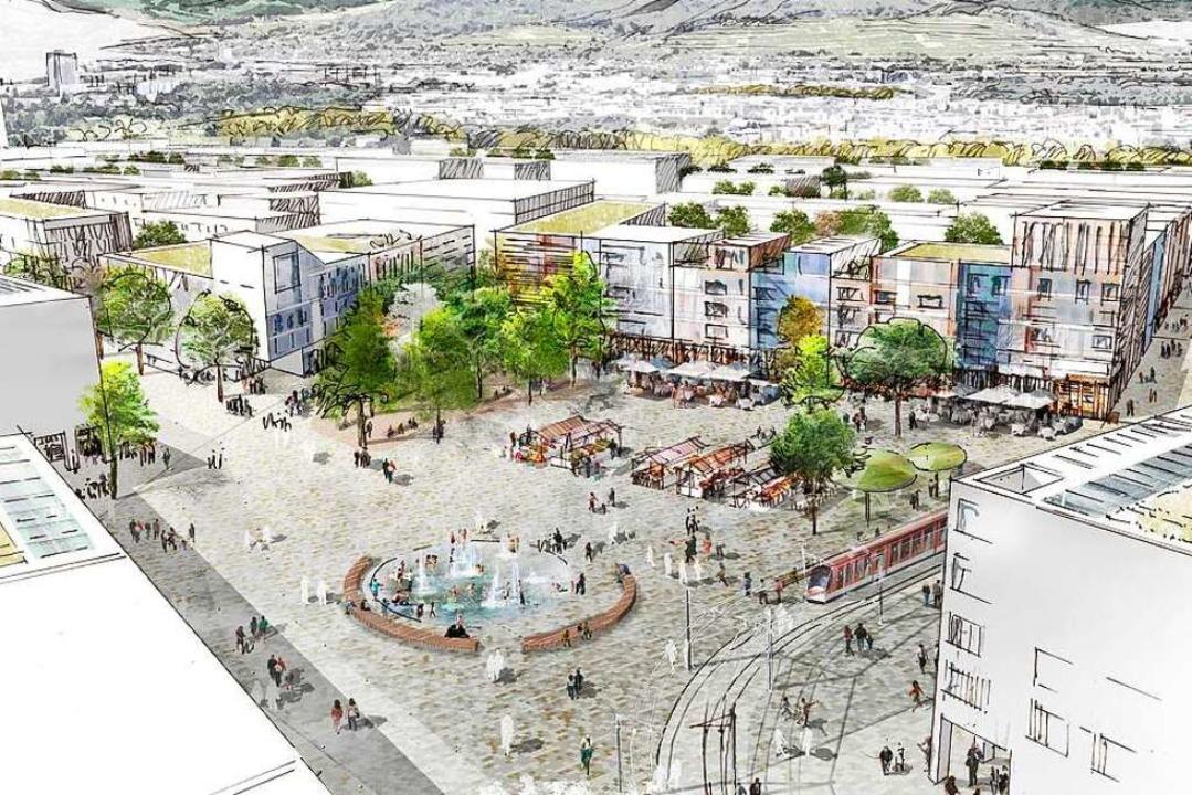 So soll der zentrale Platz im neuen Stadtteil aussehen.  | Foto: K9 Architekten