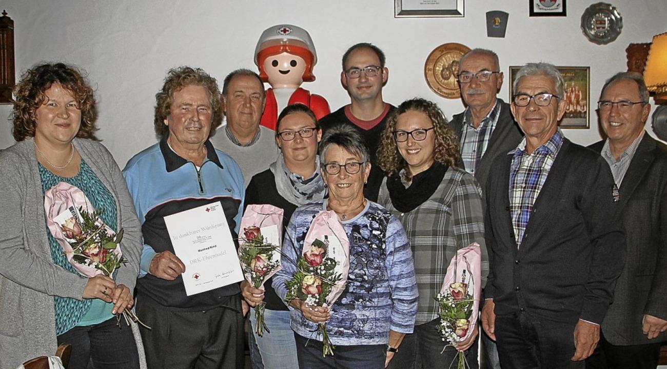 Zahlreiche Mitglieder der Bickensohler...hre langjährige Mitgliedschaft geehrt.  | Foto: Herbert Trogus
