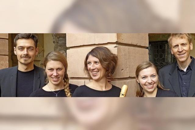 Das Freiburger Ensemble L'Art du Bois spielt Adventsmusik im Kerzenschein