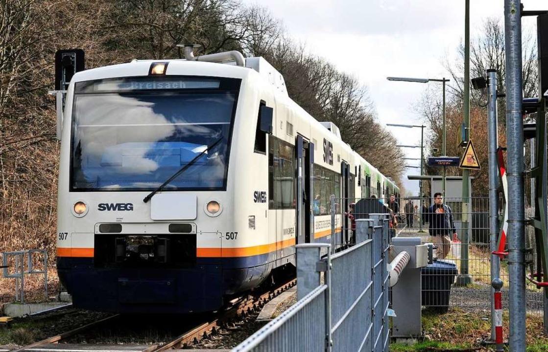 Die Breisgau-S-Bahn ist derzeit nicht ...iebenen Gleisanlagen sind die Ursache.  | Foto: Thomas Kunz
