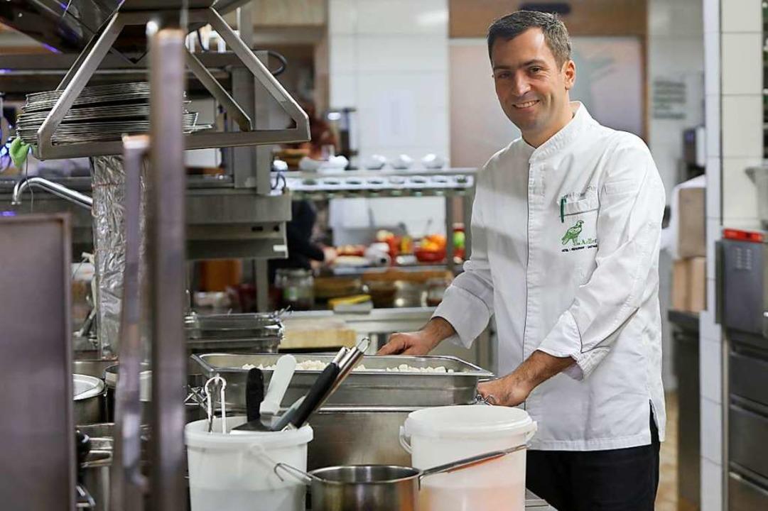 Küchenchef Daniel Fehrenbacher vom Restaurant Adler  | Foto: Christoph Breithaupt