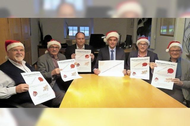 Die Politiker werden zu Weihnachtsmännern