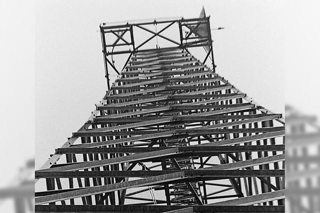 Erste Parabolantenne saß auf einem hohen Mast