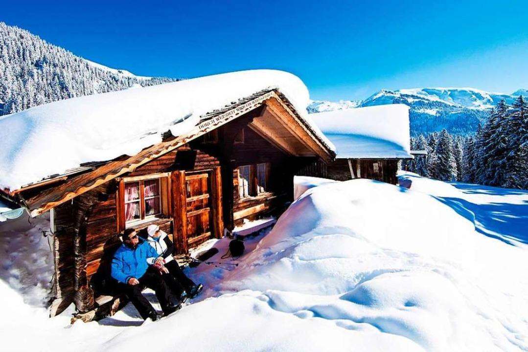 Die Winter-Bergwelt in vollen Zügen genießen  | Foto: david birri