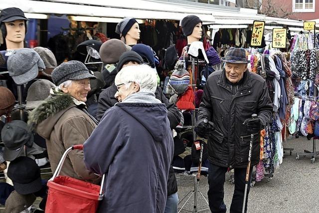 Auf dem Malterdinger Katharinenmarkt gab es Allerlei für den Haushalt