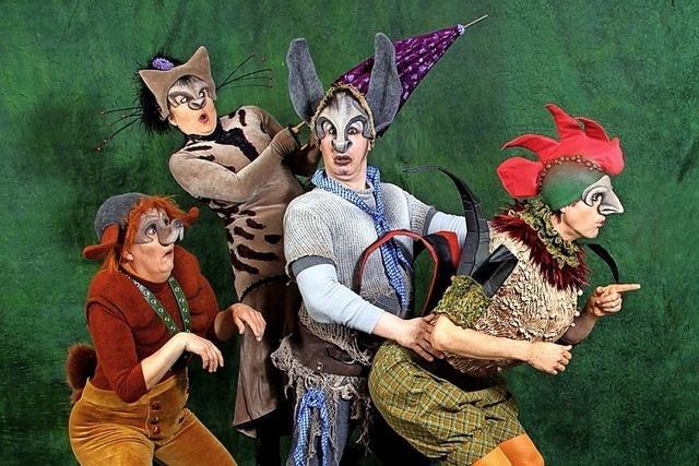 Theater Mimikri zeigt die Bremer Stadtmusikanten im Parktheater Lahr