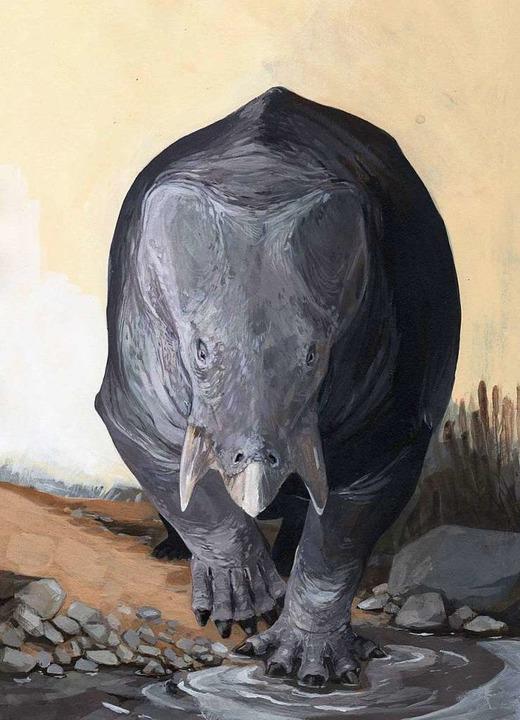Vorsicht Pfütze! So könnte er ausgeseh...n, der kolossale Urahn der Säugetiere.  | Foto: öö