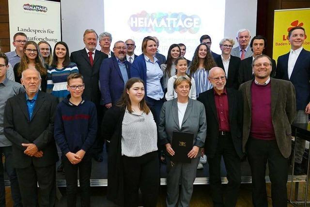In Waldkirch wurden die Landespreise für Heimatforschung verliehen